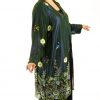 Special Occasion Beaded Coat Forest Blue Purple Gold Sizes 14 - 28