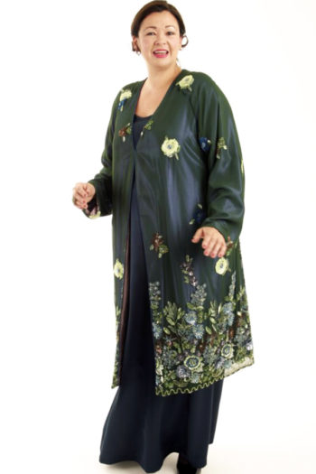 Special Occasion Beaded Coat Forest Blue Purple Gold Sizes 14 – 28