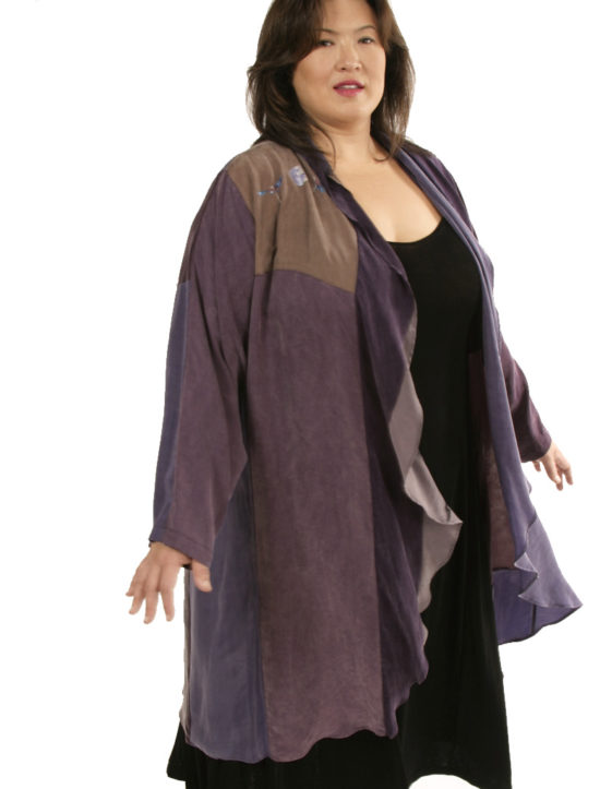 Boho Coat Artwear Purple Silver 22/24