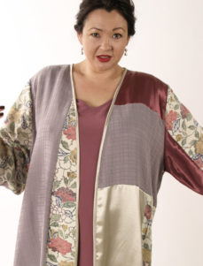 Special Occasion Kimono Jacket Artwear Rose Lavender Ivory 26/28
