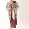 Special Occasion Kimono Jacket Artwear Rose Lavender Ivory 26/28