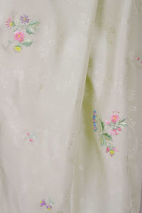 Dressy Jacket Ivory Pastels Embroidered Floral Silk 14-36