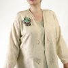 Dressy Jacket Ivory Pastels Embroidered Floral Silk 14-36