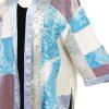 Dressy Kimono Jacket Artwear Rose Silver Turquoise Size 26/28, 30/32