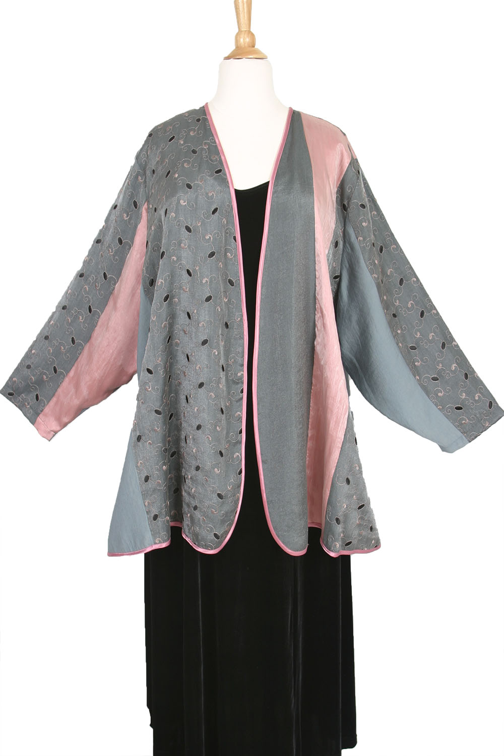 Plus Size Mother Bride Pink Gray Black Jacket Sizes 26/28, 30/32