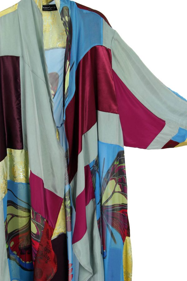 Plus Size Special Occasion Coat Burgundy Blue Gold Sage Wearable Art Size 22/24