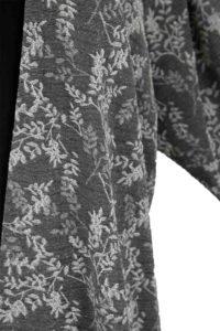 Plus Size Dressy Jacket Silver Black Floral Slinky Size 30/32