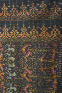 Plus Size Formal Kimono Jacket Silk Ikat Gold Black Burgundy 30/32