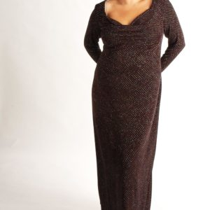 Plus Size Empire Evening Gown Black with Silver Sparkle 14/16, 18/20, 22/24