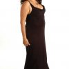 Plus Size Empire Evening Gown Black Slinky Sizes 14 - 24