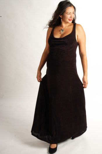 Plus Size Empire Evening Gown Black Slinky Sizes 14 – 24