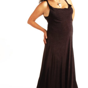 Plus Size Empire Evening Gown Sleeveless Black Slinky Sizes 14 – 24