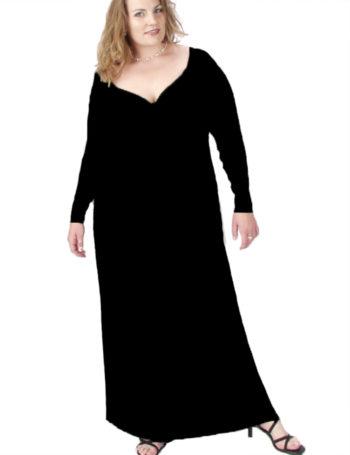 Desiree Long Sleeves Black Slither
