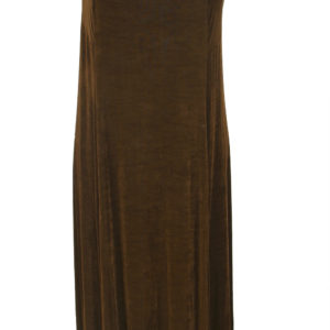 Plus Size Slip Dress Evening Gown Brown Slinky 14 – 36