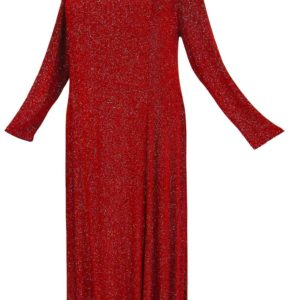 Plus Size Juliet Evening Dress Long Sleeves Burgundy Sparkle Slinky 14 – 36