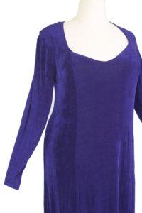 Plus Size Juliet Dress Evening Long Sleeves Purple Slinky 14 - 36
