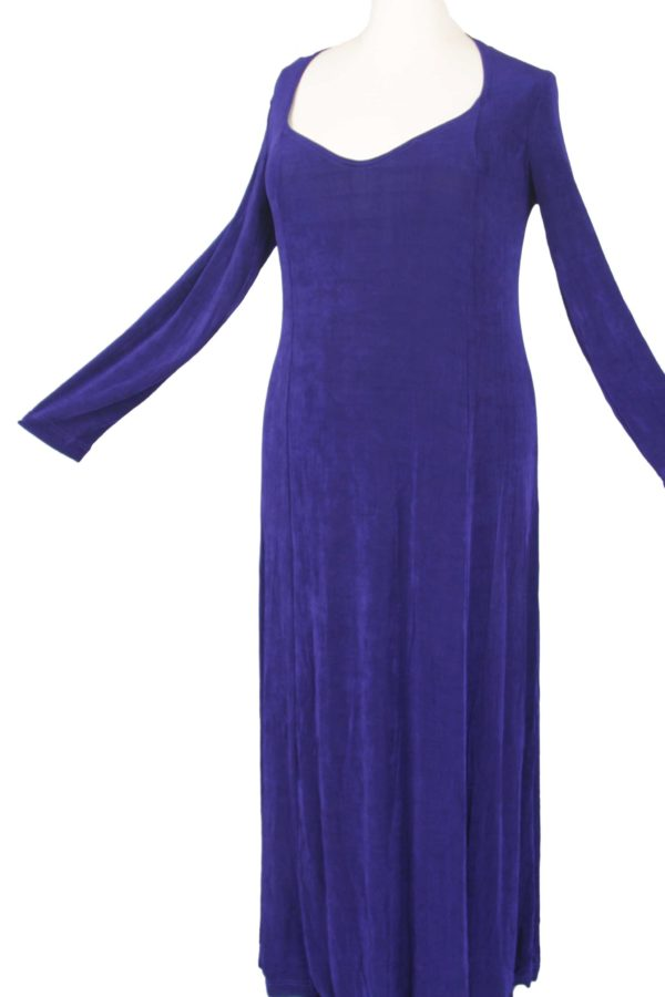 Plus Size Juliet Dress Evening Long Sleeves Purple Slinky 14 – 36