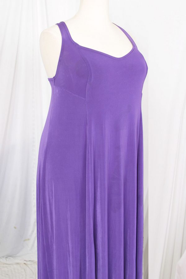Plus Size Slip Dress Evening Gown Amethyst Slinky 14 – 36