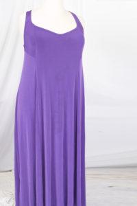 Plus Size Slip Dress Evening Gown Amethyst Slinky 14 - 36