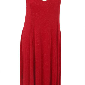 Plus Size Slip Dress Evening Gown Red Sparkle Slinky 12 – 36