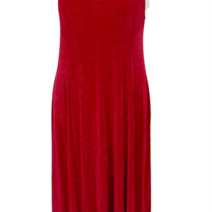 Plus Size Slip Dress Evening Gown Burgundy Slinky 12 – 36